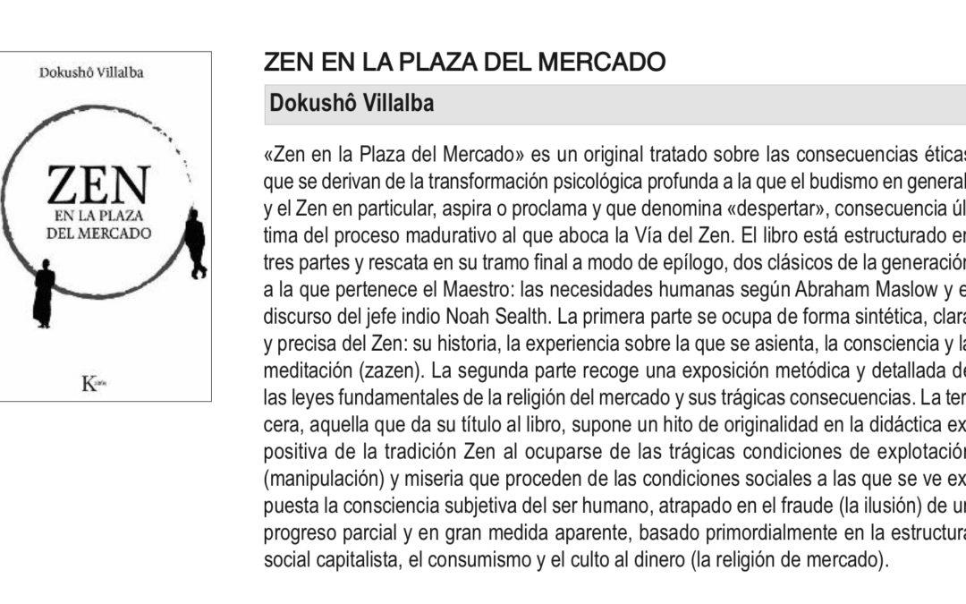 Selección bibliográfica: «Zen en la Plaza del Mercado» (Dokushô Villalba)